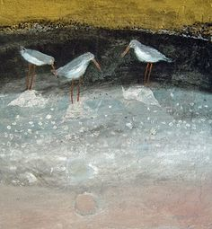 Sunday Safari - On the sea and by the shore Wildlife Paintings, Shorebirds, Bird Illustration, Sea Birds, Bird Art, Mosaic Art, Textile Art, Painted Rocks, Folk Art