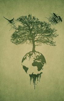 Earth Tree Tattoo idea