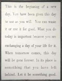 As hard as it is sometimes .. We need to have this outlook EVERYday!!