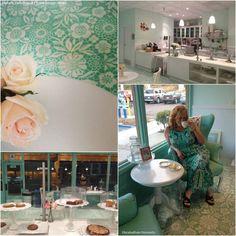 Stenciled Floor at Elizabethan Desserts   Skylar's Lace Floral Stencil by Royal Design Studio