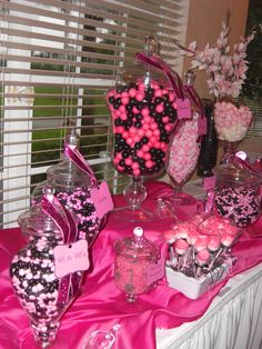 Courtney's Wedding Candy Table www. 30th Birthday Parties, Birthday Party Themes, 60th Birthday, Our Wedding, Dream Wedding, Wedding Stuff, Wedding Ideas, Candy Buffet Tables, Dessert Tables