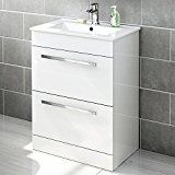 Gloss White Bathroom Furniture - Vanity Units with Basin & Storage Cabinets Basin Vanity Unit, Basin Cabinet, Bathroom Vanity Units, White Vanity Bathroom, Vanity Set, Basin Sink, Bathroom Cabinets, Bathroom Vanities, Bathroom Ideas