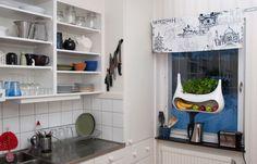 Kitchen Storage Ideas - Modern Hanging Planter with Fruit Storage