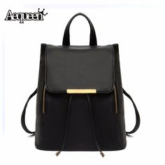 Fashion 2016 Women Backpack High Quality PU Leather backpacks School Bags For Teenagers Girls Top-handle bookbag Mochila Escolar