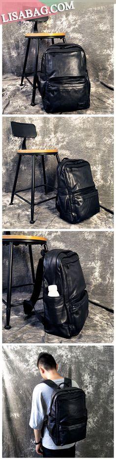 Handmade Full Grain Leather School Backpack Casual Travel Backpack Laptop  Bag YC07 7f55ab2e22