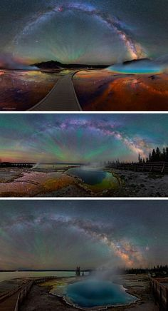 These photographs of Yellowstone National Park by Dave Lane are so gorgeous it's difficult to believe they're from real life.                                                                                                                                                     More
