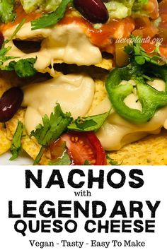 A vegan snack or vegan dinner game changer! LOADED with delicious yet healthy toppings, these nachos are great for every social occasion. Your loved ones won't be able to stop eating this plant-based taste sensation! Best Vegan Recipes, Healthy Dinner Recipes, Whole Food Recipes, Diet Recipes, Healthy Meals, Plant Based Meal Planning, Plant Based Eating, Plant Based Diet, Vegan Lunches
