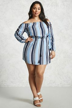 Product Name:Plus Size Off-the-Shoulder Dress, Category:CLEARANCE_ZERO, Price:19.9