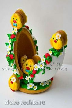 Easter egg decorated cookie