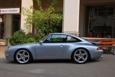 "Silver Porsche 993 Targa on 19"" Ruf wheels. #everyday993 #Porsche"
