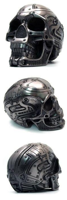 mechanical skull helmet