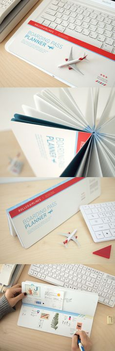 Fly away with your planning and get lost in another world of the Boarding Pass Weekly Planner!