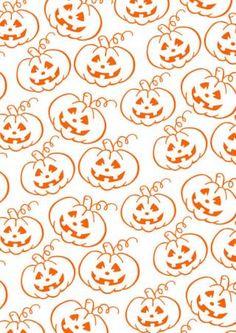 FREE printable halloween pumpkin pattern paper ^^