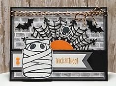 Peanuts and Peppers Papercrafting: Try It Thursday - Stampin' Up! Jar of Haunts Halloween Card