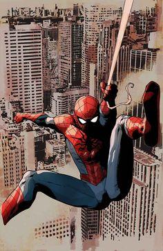 Spiderman by Leinil Francis Yu Marvel Comics, Marvel Comic Books, Marvel Art, Marvel Characters, Marvel Heroes, Comic Books Art, Comic Art, Captain Marvel, Amazing Spiderman