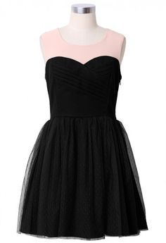 Tulle Heart Shape Wrap Dress in Black... with a sparkly belt and accessories <3