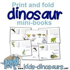 *FREE* Dinosaur Printable Mini Books Free dinosaur printables - print and fold mini booklets. Dinosaur Crafts Kids, Dinosaurs Preschool, Dinosaur Activities, Dinosaur Facts For Kids, Dinosaur Garden, Preschool Themes, Kid Crafts, Preschool Crafts, Dinosaur Worksheets