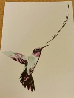 Stampin up. Hummingbird. By  Dawn Watson. Stampin' Up!, Picture Perfect