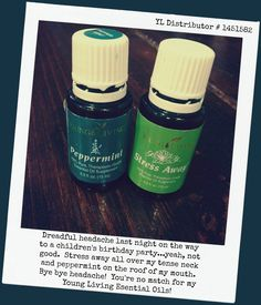 Peppermint and Stress Away are a great team to take on a tension headache. Visit us on the web at www.preckshotpharmacy.com or give us a call at 309-679-2047. #PPPharmacy #health