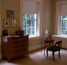 Emily Dickinson's bedroom in the house where she lived all her life, the Homestead in Amherst, MA.