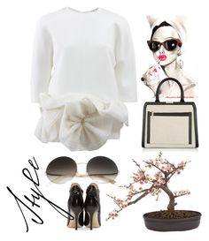 """""""Elegance"""" by grinevagh ❤ liked on Polyvore featuring Victoria Beckham and Jimmy Choo"""