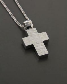 Σταυρός λευκόχρυσος Κ14 Baby Baptism, Men's Accessories, Crosses, My Heart, Arrow Necklace, Jewelry Design, Wedding Rings, Mens Fashion, Beauty