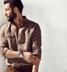 View all - Casual shirts - MEN - Massimo Dutti Stylish Men, Men Casual, Best Casual Shirts, Kakis, Moda Formal, Leather Jackets Online, Safari Shirt, Look Man, Men's Leather Jacket