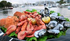 Looks absolutely delish! Fresh seafood, Mooloolaba Wharf.