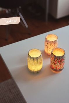 Cute DIY Mason Jar Ideas - Sweet Fabric Votives - Fun Crafts, Creative Room Decor, Homemade Gifts, Creative Home Decor Projects and DIY Mason Jar Lights - Cool Crafts for Teens and Tween Girls http://diyprojectsforteens.stfi.re/cute-diy-mason-jar-crafts