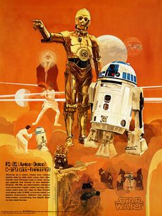 70sscifiart: A set of four rare Del Nichols' Star Wars posters...