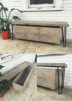How to Build a Quick Outdoor Hairpin Leg Bench (with Storage!)