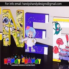 #Personalized Wall or Stand-Up Letters for Room or Event Decor !! #handmade #products #personalized #party #handyshandydesigns emai handyshandydesigns@gmail.com for info!