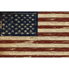 Portfolio Canvas Decor Old Glory by Beth Albert Large Canvas Wall Art, 24x36, Size: Large 33 inch-40 inch, Multicolor