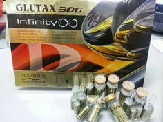 Glutax 30g infinity Anti ageing can remove all wrinkles, scars, acnes and dark circles from skin. As it contains glutathione as the major ingredient, it acts as the best antioxidant for the body. This injection is very effective and it works so effeciently and so quickly that the users will be delighted to mark the changes in their skins.