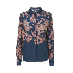 Jaeger Floral Blouse, 160 ($255) ❤ liked on Polyvore