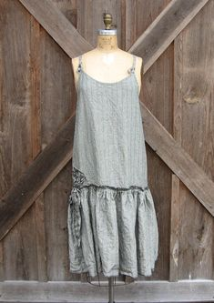 linen dress jumper pinafore tunic smock sundress by linenclothing, $139.00