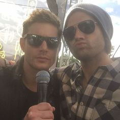 Jared's Instagram: Chillin with Jensen Ackles at the FIRST EVER #ewpopfest lovin it!! #spnfamily #akf