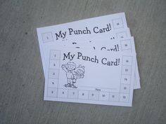 Kids write down what they want for reward when they fill their punch card. They get punches for chores, good behavior, etc.