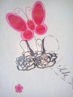 Boucles d'oreille - Dormeuses fleurs en filigrane : Boucles d'oreille par…