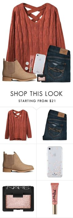 """""""Tomorrow is Thursday!!! 1 more day til Friday"""" by jojo2056 ❤ liked on Polyvore featuring Abercrombie & Fitch, H&M, Kate Spade, NARS Cosmetics, Too Faced Cosmetics and Accessorize"""