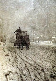 Alfred Stieglitz. Winter on Fifth Avenue. 1892.