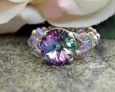 Marcella Swarovski Crystal Ring Tutorial instant download on Craftsy