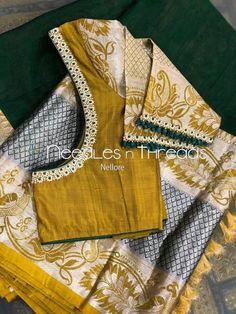 Saree Jacket Designs, Pattu Saree Blouse Designs, Blouse Designs Silk, Bridal Blouse Designs, Lehenga Blouse, Blouse Patterns, Hand Work Blouse Design, Simple Blouse Designs, Stylish Blouse Design