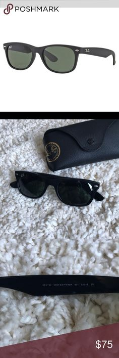 Ray-Ban New Wayfarer RB 2123. Black/901. 52-18. Comes with case. Non polarized Ray-Ban Accessories Sunglasses