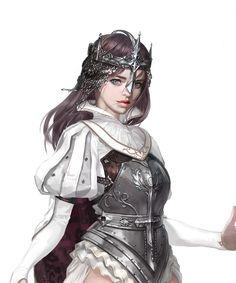 ArtStation - white magician, jee wook Choi (c juk) Female Character Design, Character Concept, Character Art, Inspiration Drawing, Character Design Inspiration, Fantasy Armor, Medieval Fantasy, Fantasy Women, Fantasy Girl