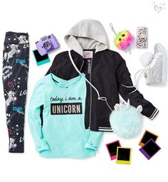 Every day magic begins with unicorn prints, furry cute accessories and so-you sparkle.