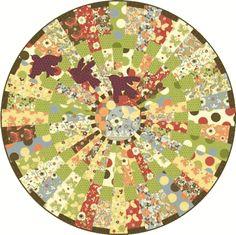 Freebird Circle Quilt - Table Topper, Floor Mat, etc