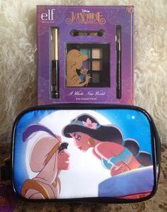 e.l.f. Disney * JASMINE * Eye Shadow Collection & Make Up Bag Purse #elfforDisney