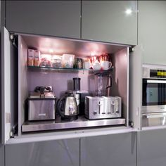 Small Kitchen Options - being able to close away appliances - love it! (hate the color though :P)