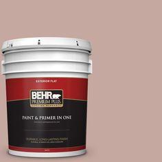 BEHR Premium Plus Home Decorators Collection 5-gal. #hdc-NT-06 Patchwork Pink Flat Exterior Paint